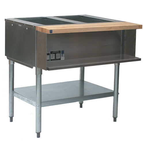 Steam Table, Water Bath, 2 Openings, Gas