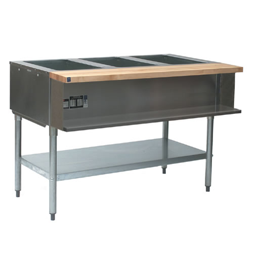 Steam Table, Water Bath, 3 Openings, Gas
